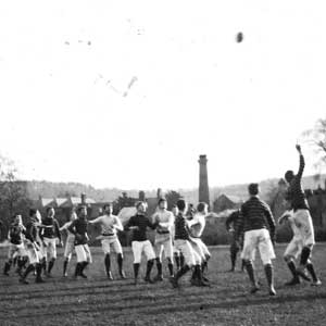 Sherborne School: Boys playing Rugby