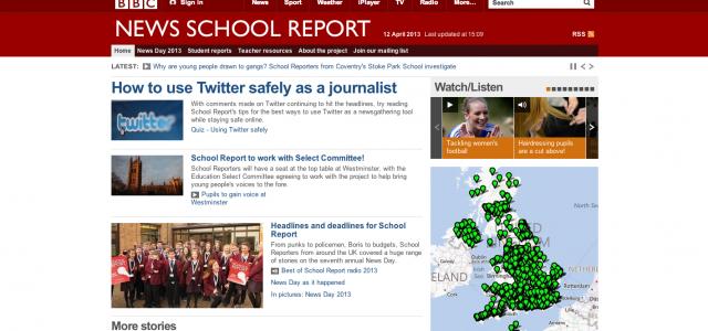 BBC school Report screenshot