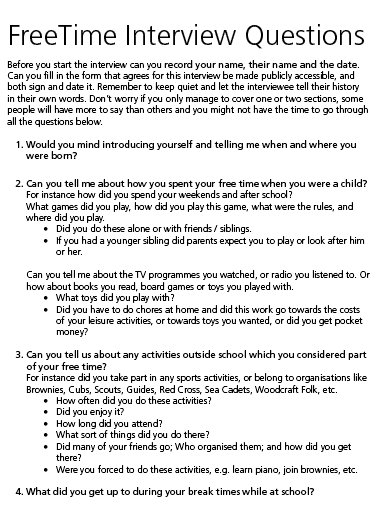 FreeTime Interview Questions image