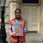 Big Issue seller on High West St by Margaret Stevens
