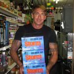 Storm seller in fishing shop by Margaret Stevens