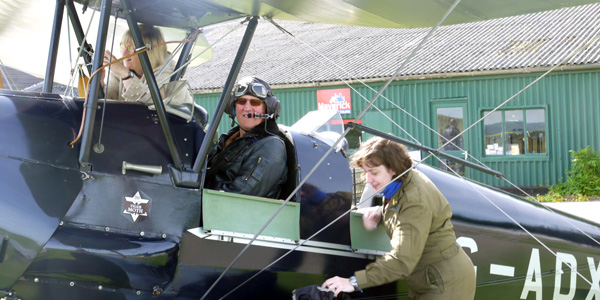 Nick Heape at Compton Abbas airfield.  © Nick Heape.