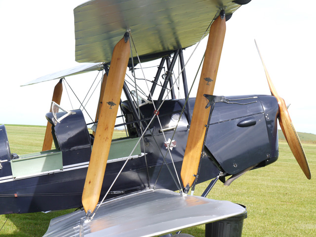 The Tiger Moth at Compton. Date: 29.06.2013 at Compton Abbas airfield © Nick Heape.