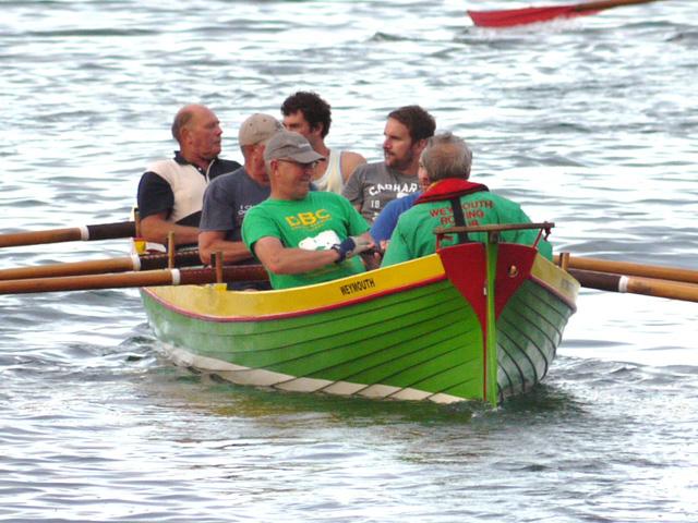 Training row for Weymouth Rowing Club © Nick Heape
